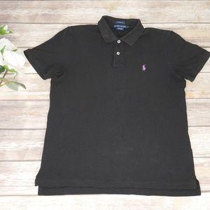 Polo Ralph Lauren Black Purple Shirt Size Large